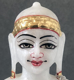 """Picture of Super White Simandhar Swami 7"""" Murti 7S1"""