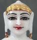 """Picture of Super White Simandhar Swami 7"""" Murti 7S2"""