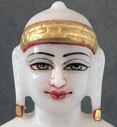 """Picture of Super White Simandhar Swami 7"""" Murti  7S4"""