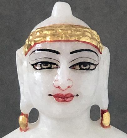"""Picture of Super White Simandhar Swami 7"""" Murti 7S5"""