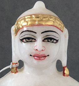 "Picture of Superb White Simandhar Swami 7"" Murti 7S7"