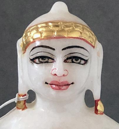 "Picture of Superb White Simandhar Swami 7"" Murti 7S7"
