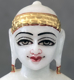 "Picture of Super White Simandhar Swami 7"" Murti 7S6"