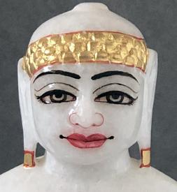 """Picture of Super White Simandhar Swami 7"""" Murti 7S9"""