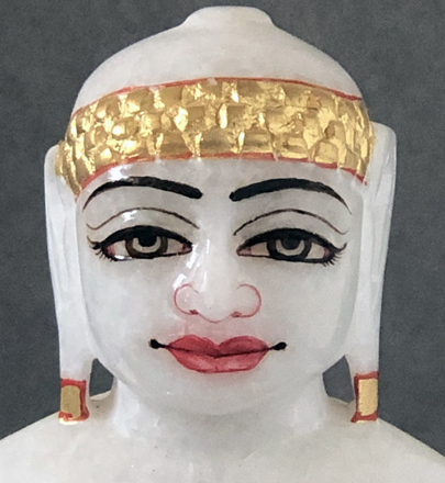 "Picture of Super White Simandhar Swami 7"" Murti 7S9"