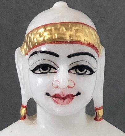 """Picture of Super White Simandhar Swami 7"""" Murti 7S10"""