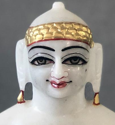 "Picture of Normal White Simandhar Swami 9"" Murti 9N1"