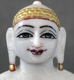 "Picture of Normal White Simandhar Swami 9"" Murti 9N2"