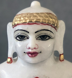"Picture of Normal White Simandhar Swami 9"" Murti 9N4"