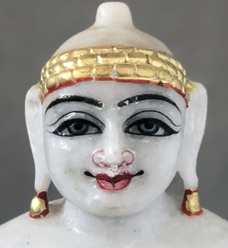 "Picture of Normal White Simandhar Swami 9"" Murti 9N5"