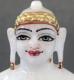 """Picture of Super White Simandhar Swami 9"""" Murti 9S3"""