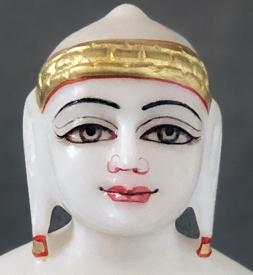"""Picture of Super White Simandhar Swami 9"""" Murti 9S5"""