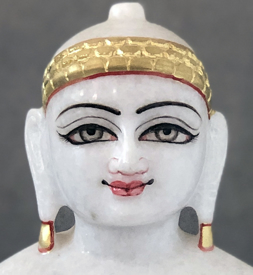 "Picture of Normal White Simandhar Swami 11"" Murti 11N1"