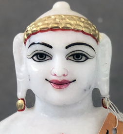 "Picture of Normal White Simandhar Swami 11"" Murti 11N4"