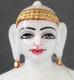 """Picture of Super White Simandhar Swami 11"""" Murti 11S4"""