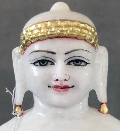 "Picture of Normal White Simandhar Swami 13"" Murti 13N3"
