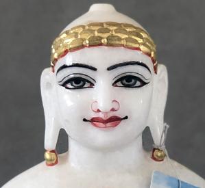 """Picture of Super White Simandhar Swami 13"""" Murti 13S2"""