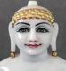 """Picture of Super White Simandhar Swami 13"""" Murti 13S3"""