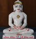 "Picture of Normal White Simandhar Swami 11"" Murti 11N10"