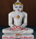 "Picture of Normal White Simandhar Swami 11"" Murti 11N25"