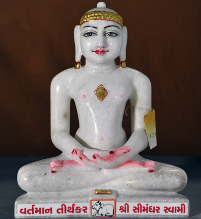"Picture of Normal White Simandhar Swami 13"" Murti 13N4"