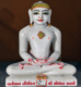 "Picture of Normal White Simandhar Swami 13"" Murti 13N18"