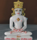 "Picture of Normal White Simandhar Swami with Mugat 11"" Murti 11MG1"