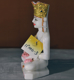 """Picture of Normal White Simandhar Swami with Mugat 11"""" Murti 11MG3"""