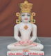 """Picture of Normal White Simandhar Swami with Mugat 11"""" Murti 11MG7"""