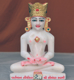 """Picture of Normal White Simandhar Swami with Mugat 11"""" Murti 11MG8"""