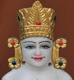 "Picture of Normal White Simandhar Swami with Mugat 11"" Murti 11MG10"