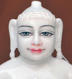 """Picture of Super White Simandhar Swami 11"""" Murti 11S11"""