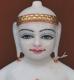 """Picture of Super White Simandhar Swami 11"""" Murti 11S14"""