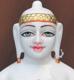"""Picture of Super White Simandhar Swami 11"""" Murti 11S22"""
