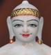 """Picture of Super White Simandhar Swami 11"""" Murti 11S19"""