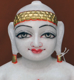 "Picture of Super White Simandhar Swami 11"" Murti 11S7"