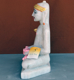 "Picture of Normal White Simandhar Swami 13"" Murti 13N34"