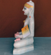 "Picture of Normal White Simandhar Swami 13"" Murti 13N28"