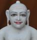 """Picture of Super White Simandhar Swami 15"""" Murti 15S01"""