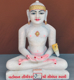 "Picture of Normal White Simandhar Swami 13"" Murti 13N37"