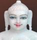 """Picture of Super White Simandhar Swami 11"""" Murti 11S27"""