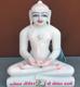 """Picture of Super White Simandhar Swami 11"""" Murti 11S28"""