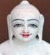 """Picture of Super White Simandhar Swami 11"""" Murti 11S29"""