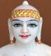 """Picture of Super White Simandhar Swami 11"""" Murti 11S31"""