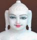 """Picture of Super White Simandhar Swami 11"""" Murti 11S35"""