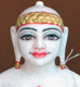 "Picture of Super White Simandhar Swami 11"" Murti 11S41"