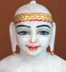 "Picture of Normal White Simandhar Swami 11"" Murti 11N28"
