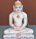 "Picture of Normal White Simandhar Swami 11"" Murti 11N29"