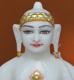 """Picture of Super White Simandhar Swami 9"""" Murti 9S6"""