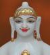 """Picture of Super White Simandhar Swami 9"""" Murti 9S8"""
